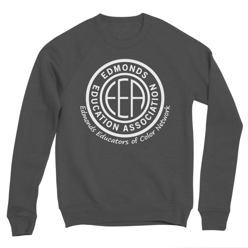 Edmonds EA Seal White-Edmonds Educators of Color Network Men's Sponge Fleece Sweatshirt by Edmonds Education Association Swag Shop