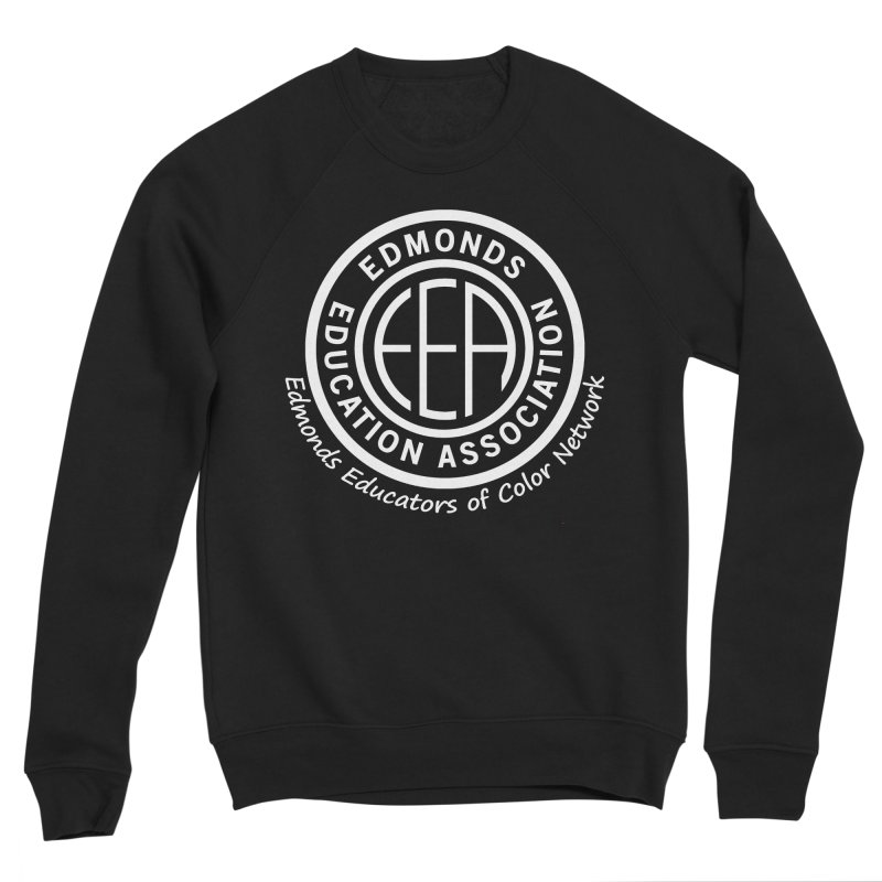 Edmonds EA Seal White-Edmonds Educators of Color Network Men's Sponge Fleece Sweatshirt by Edmonds Education Association Swag Shop