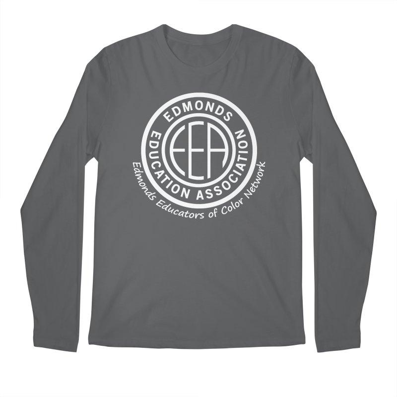 Edmonds EA Seal White-Edmonds Educators of Color Network Men's Longsleeve T-Shirt by Edmonds Education Association Swag Shop