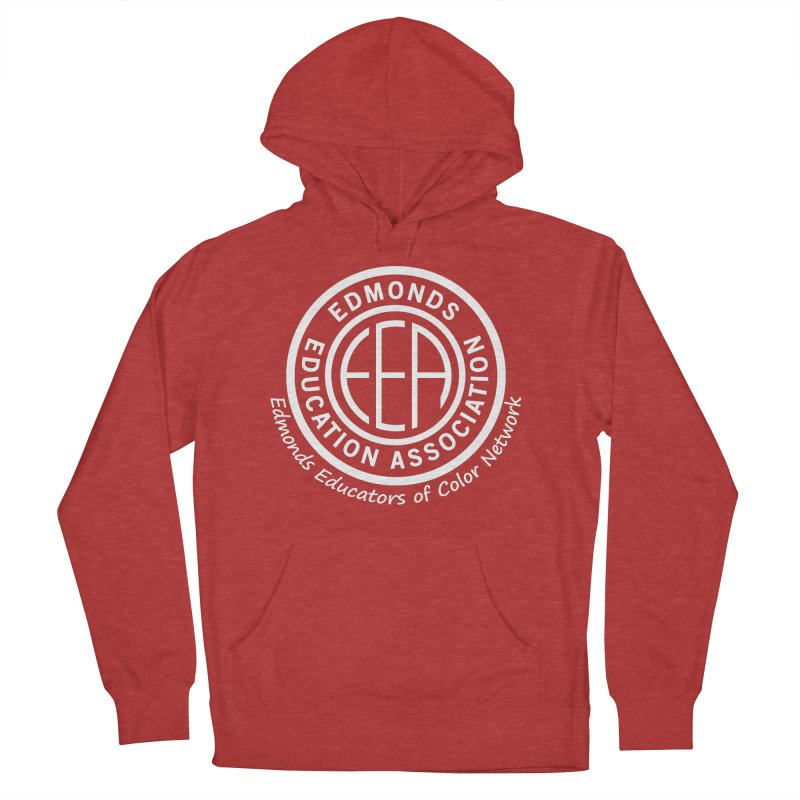 Edmonds EA Seal White-Edmonds Educators of Color Network Women's French Terry Pullover Hoody by Edmonds Education Association Swag Shop