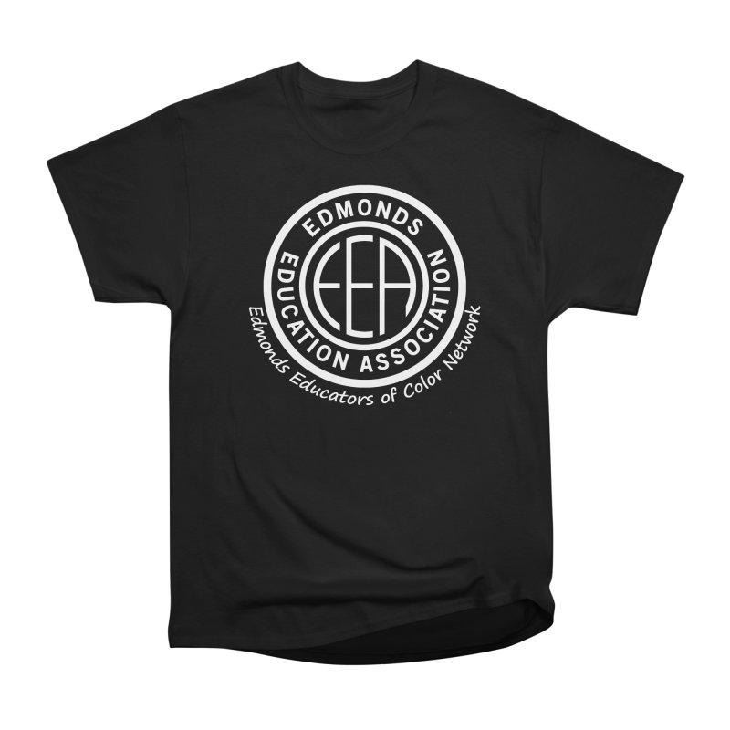 Edmonds EA Seal White-Edmonds Educators of Color Network Men's Heavyweight T-Shirt by Edmonds Education Association Swag Shop