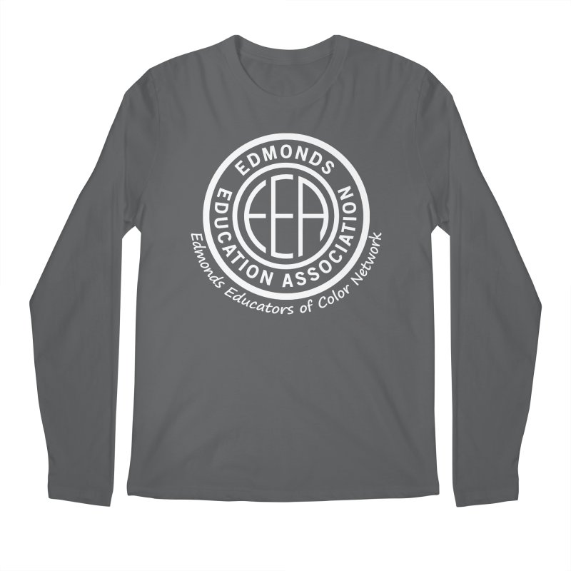 Edmonds EA Seal White-Edmonds Educators of Color Network Men's Regular Longsleeve T-Shirt by Edmonds Education Association Swag Shop