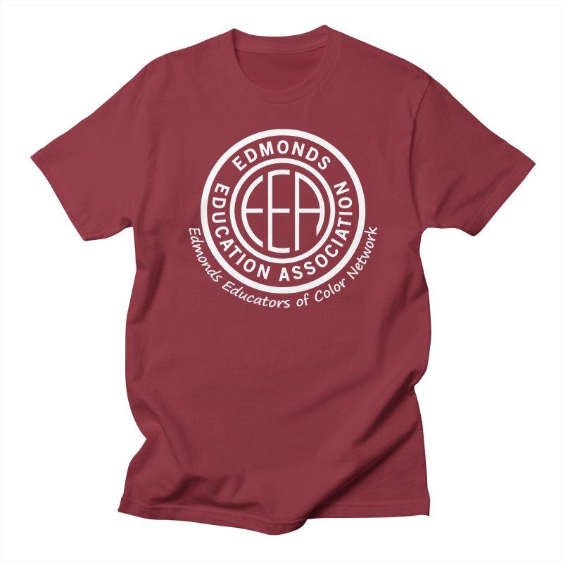 Edmonds EA Seal White-Edmonds Educators of Color Network Women's Regular Unisex T-Shirt by Edmonds Education Association Swag Shop