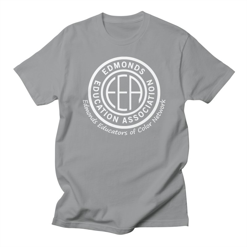 Edmonds EA Seal White-Edmonds Educators of Color Network Men's Regular T-Shirt by Edmonds Education Association Swag Shop