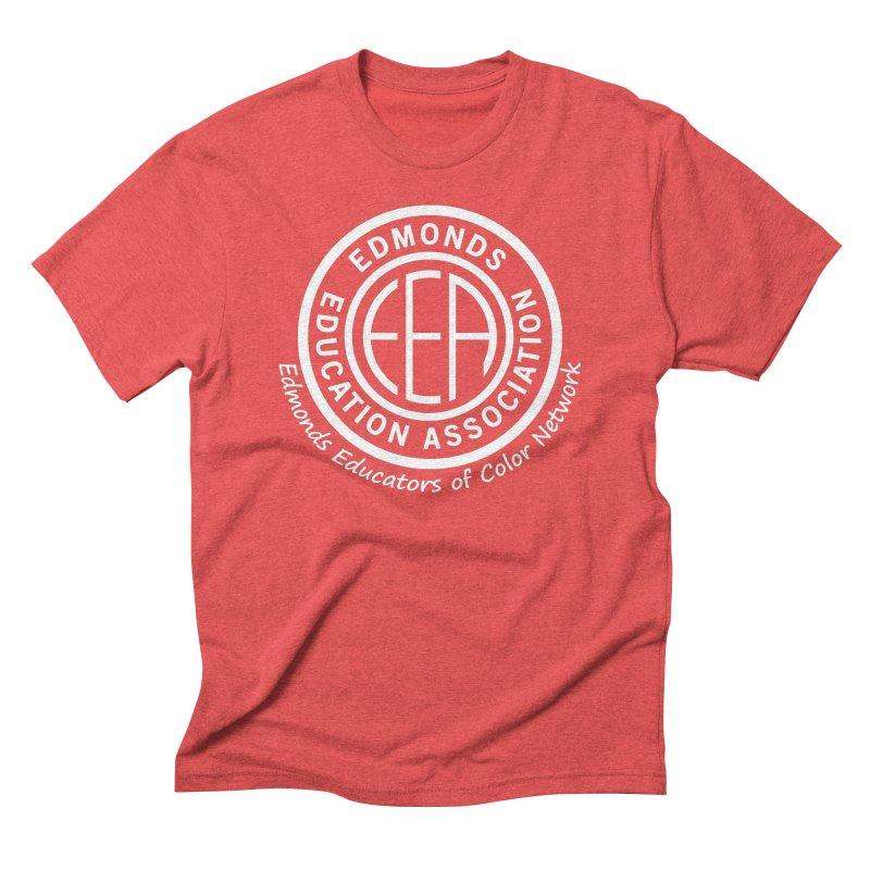 Edmonds EA Seal White-Edmonds Educators of Color Network Men's Triblend T-Shirt by Edmonds Education Association Swag Shop