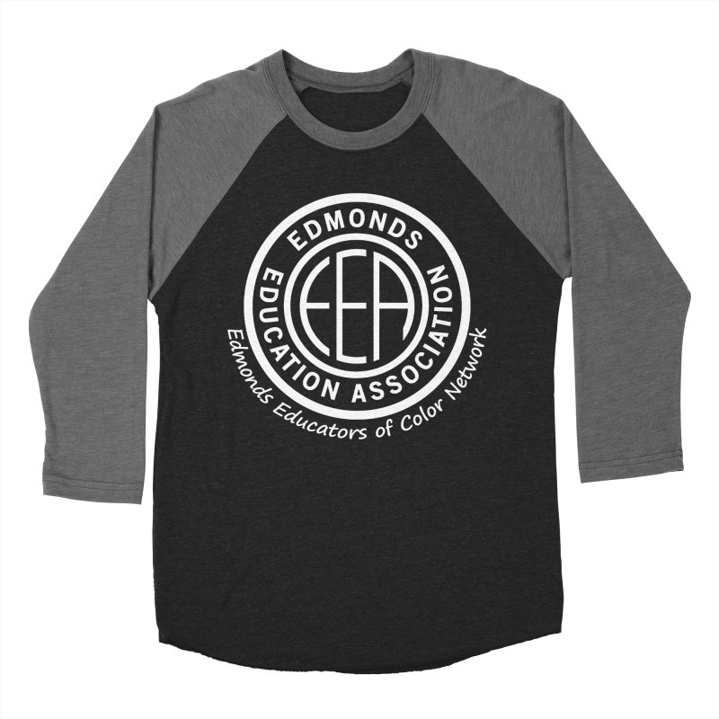 Edmonds EA Seal White-Edmonds Educators of Color Network Women's Baseball Triblend Longsleeve T-Shirt by Edmonds Education Association Swag Shop