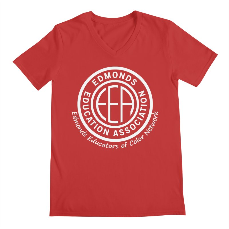 Edmonds EA Seal White-Edmonds Educators of Color Network Men's V-Neck by Edmonds Education Association Swag Shop