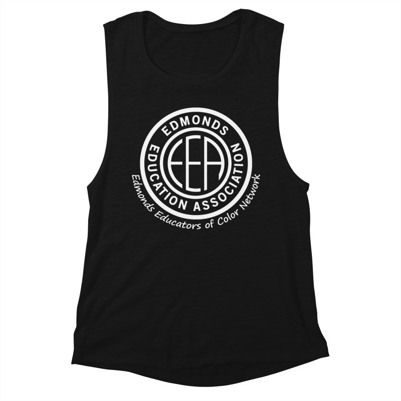 Edmonds EA Seal White-Edmonds Educators of Color Network Women's Muscle Tank by Edmonds Education Association Swag Shop