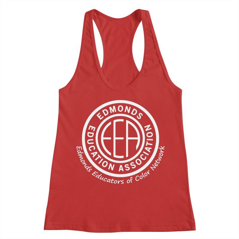 Edmonds EA Seal White-Edmonds Educators of Color Network Women's Racerback Tank by Edmonds Education Association Swag Shop