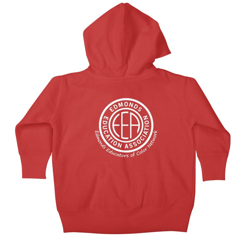 Edmonds EA Seal White-Edmonds Educators of Color Network Kids Baby Zip-Up Hoody by Edmonds Education Association Swag Shop