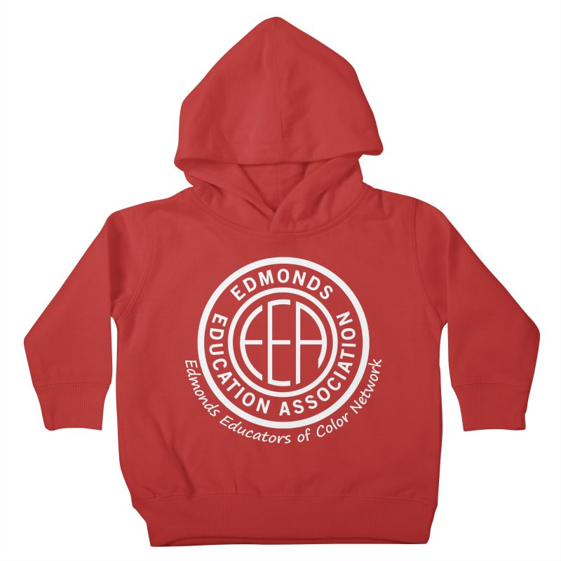 Edmonds EA Seal White-Edmonds Educators of Color Network Kids Toddler Pullover Hoody by Edmonds Education Association Swag Shop