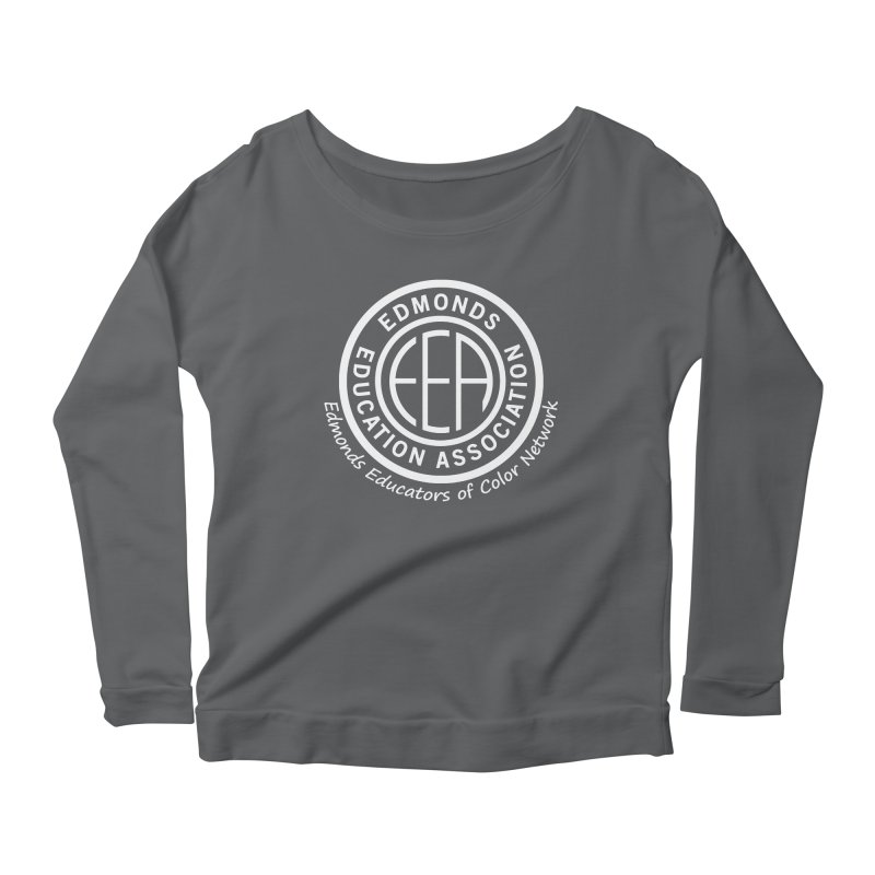 Edmonds EA Seal White-Edmonds Educators of Color Network Women's Scoop Neck Longsleeve T-Shirt by Edmonds Education Association Swag Shop