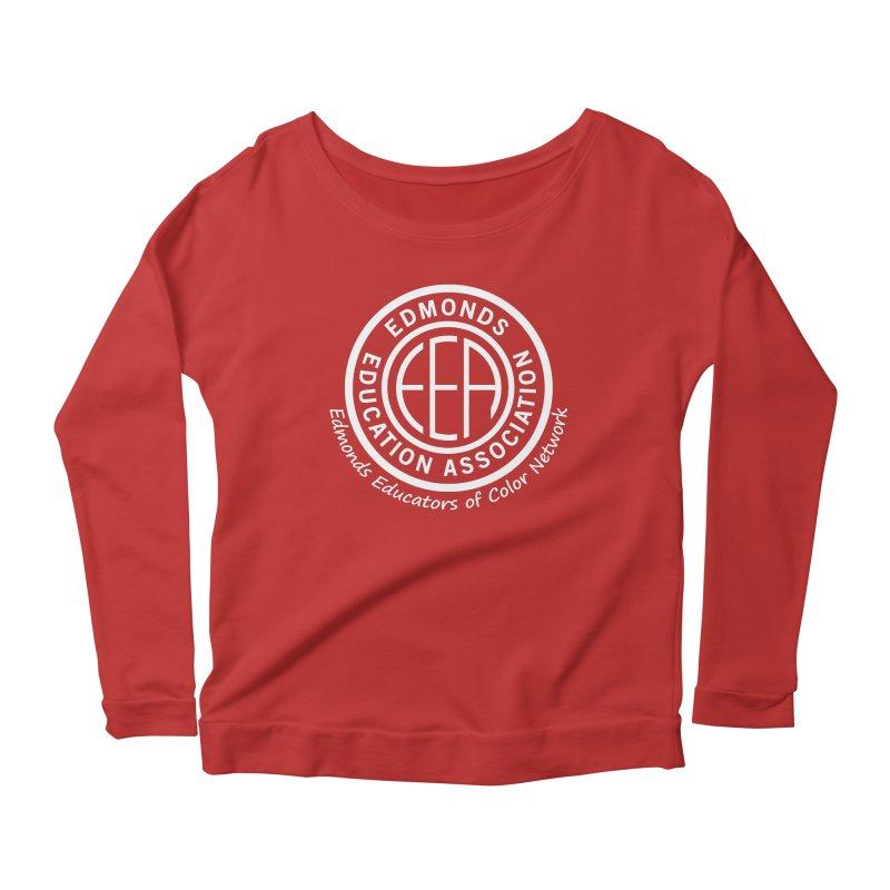 Edmonds EA Seal White-Edmonds Educators of Color Network Women's Scoop Neck Longsleeve T-Shirt by Edmonds Education Association Swag Shop