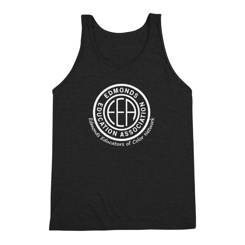 Edmonds EA Seal White-Edmonds Educators of Color Network Men's Triblend Tank by Edmonds Education Association Swag Shop