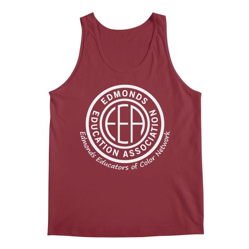 Edmonds EA Seal White-Edmonds Educators of Color Network Men's Tank by Edmonds Education Association Swag Shop