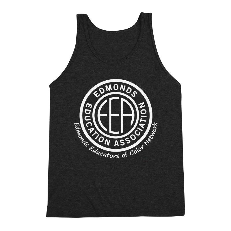 Edmonds EA Seal White-Edmonds Educators of Color Network Men's Triblend Tank by Edmonds Education Association Swag Shop