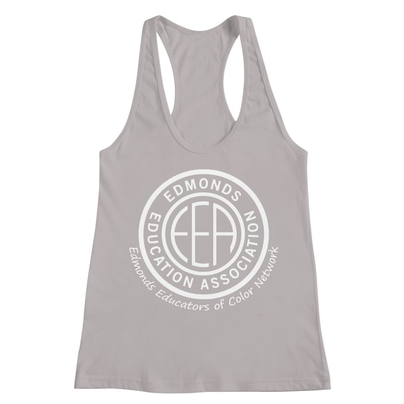 Edmonds EA Seal White-Edmonds Educators of Color Network Women's Racerback Tank by Edmonds Education Association Swag Shop
