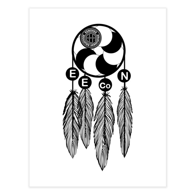 Edmonds Educators of Color Network Seal - Full size Home Fine Art Print by Edmonds Education Association Swag Shop