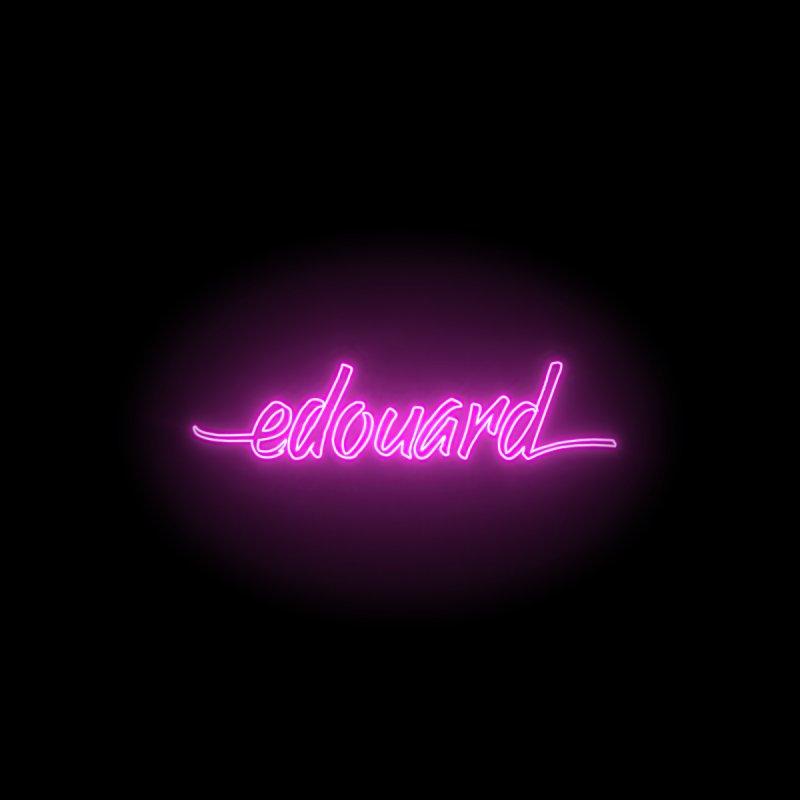 Edouard —Neon Logo Men's T-Shirt by Edouard