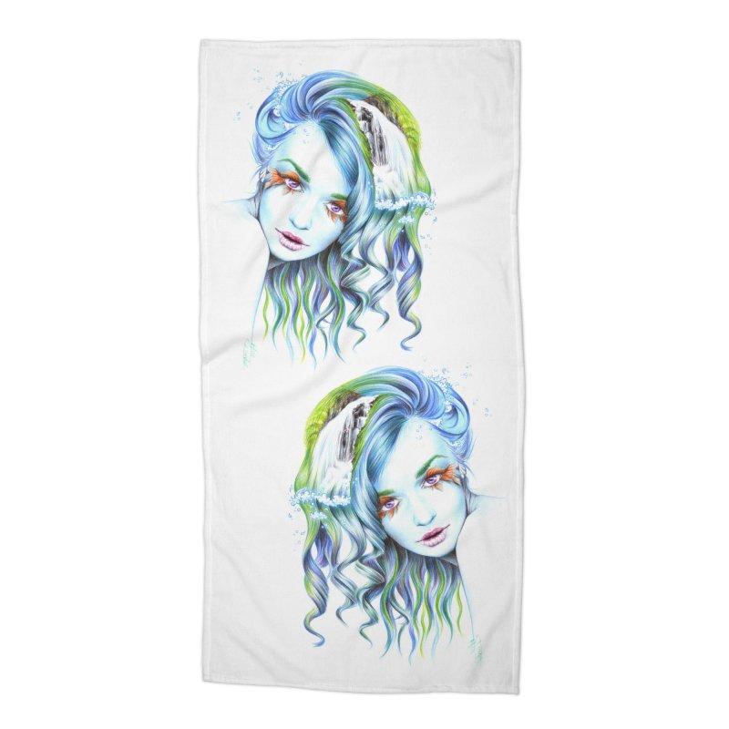Water Accessories Beach Towel by edrawings38's Artist Shop
