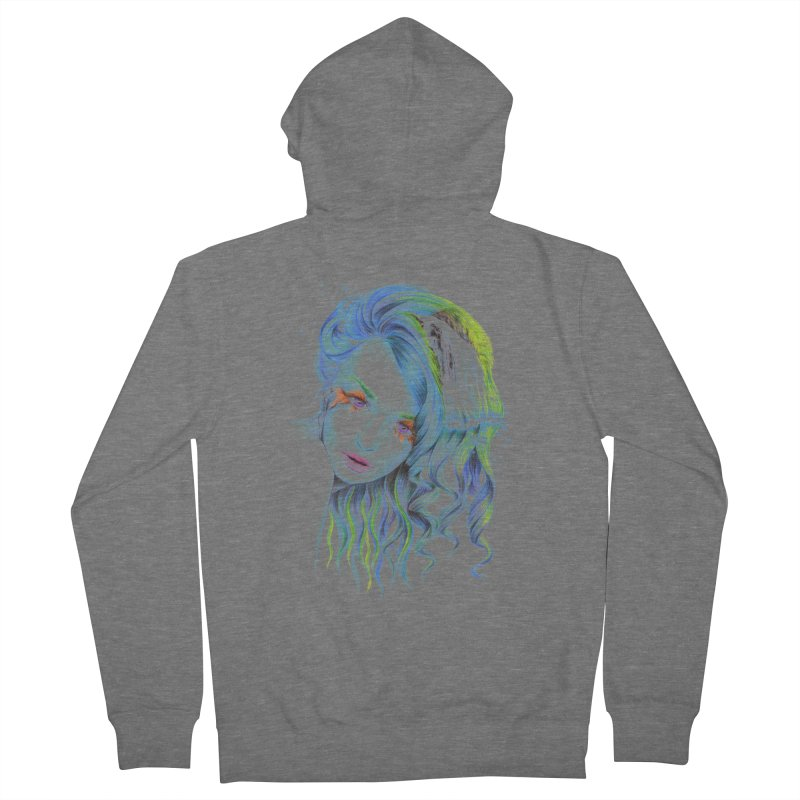 Water Women's French Terry Zip-Up Hoody by edrawings38's Artist Shop