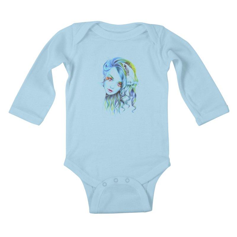 Water Kids Baby Longsleeve Bodysuit by edrawings38's Artist Shop