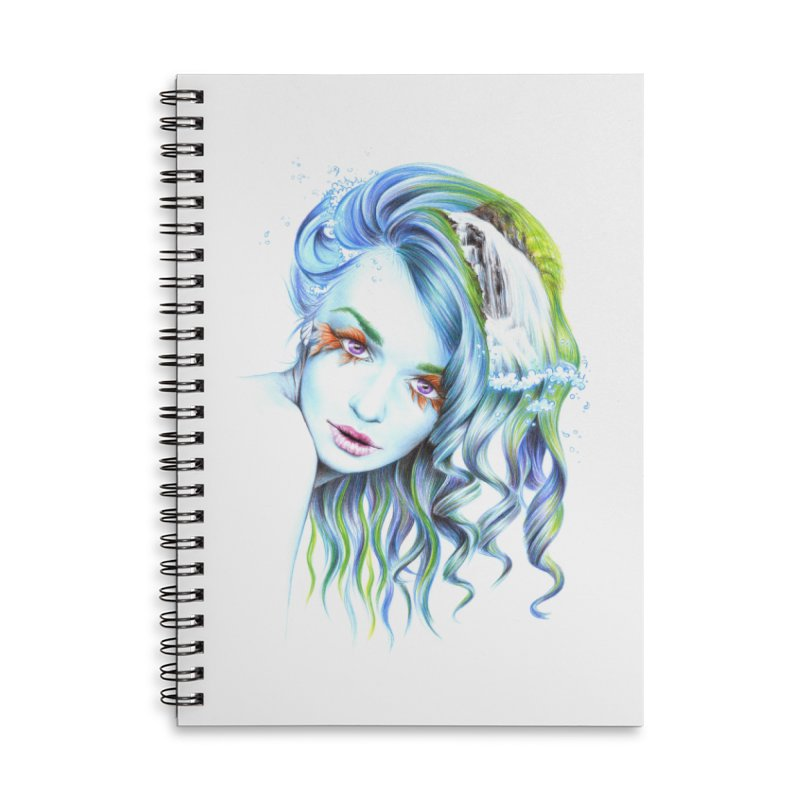 Water Accessories Lined Spiral Notebook by edrawings38's Artist Shop
