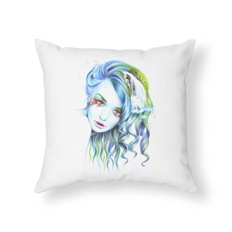 Water Home Throw Pillow by edrawings38's Artist Shop