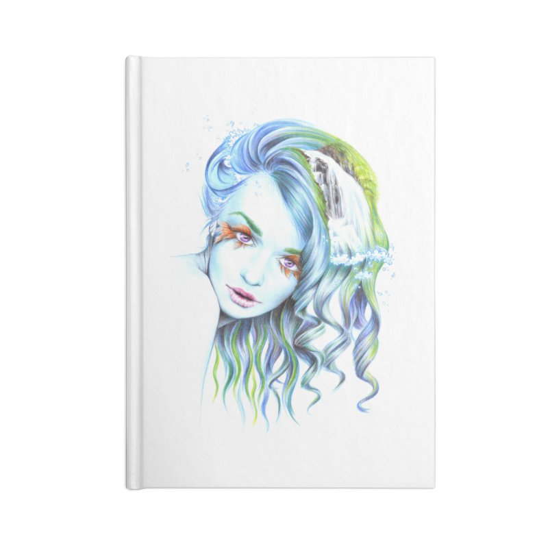 Water Accessories Lined Journal Notebook by edrawings38's Artist Shop