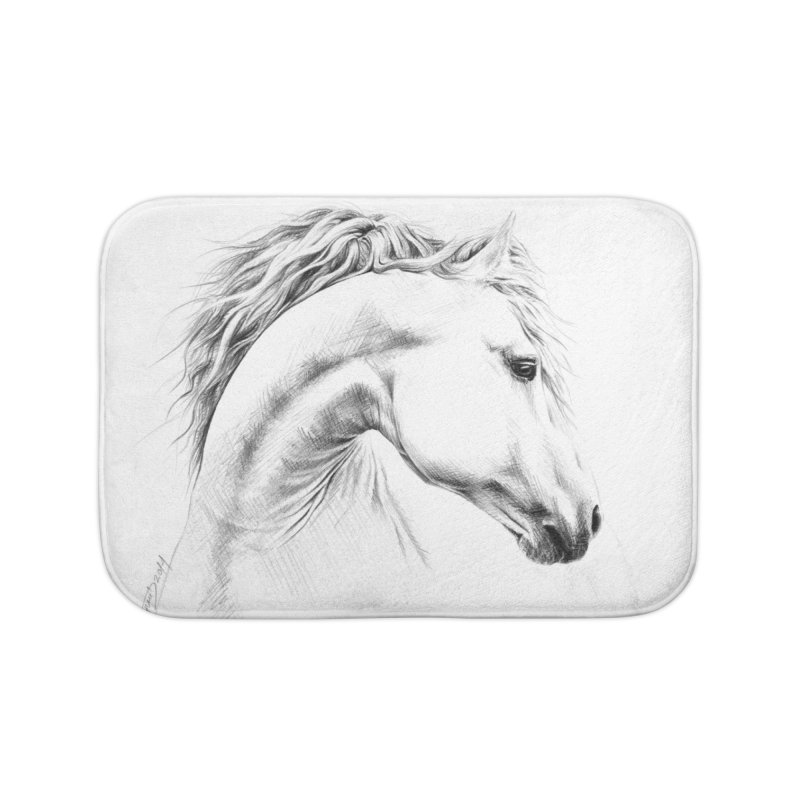 Horse Home Bath Mat by edrawings38's Artist Shop