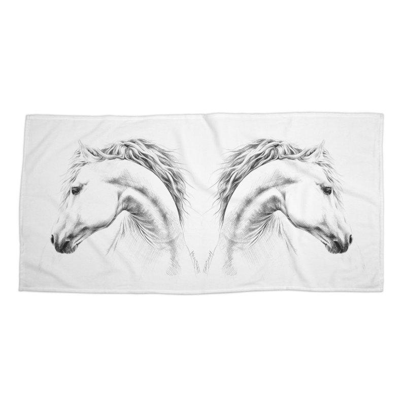 Horse Accessories Beach Towel by edrawings38's Artist Shop