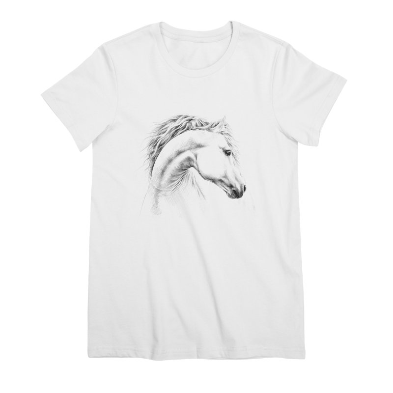 Horse Women's Premium T-Shirt by edrawings38's Artist Shop