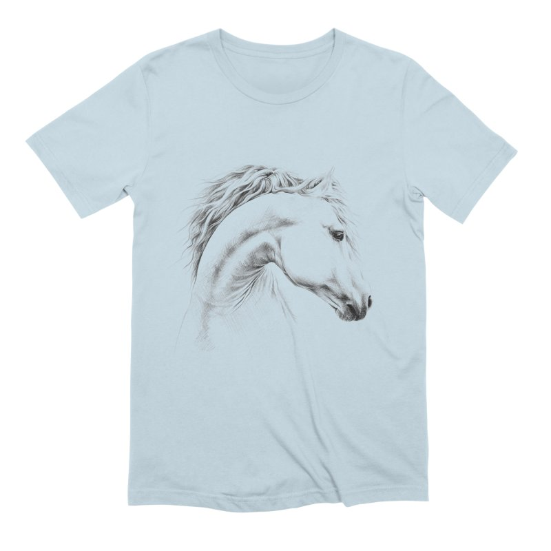 Horse Men's Extra Soft T-Shirt by edrawings38's Artist Shop