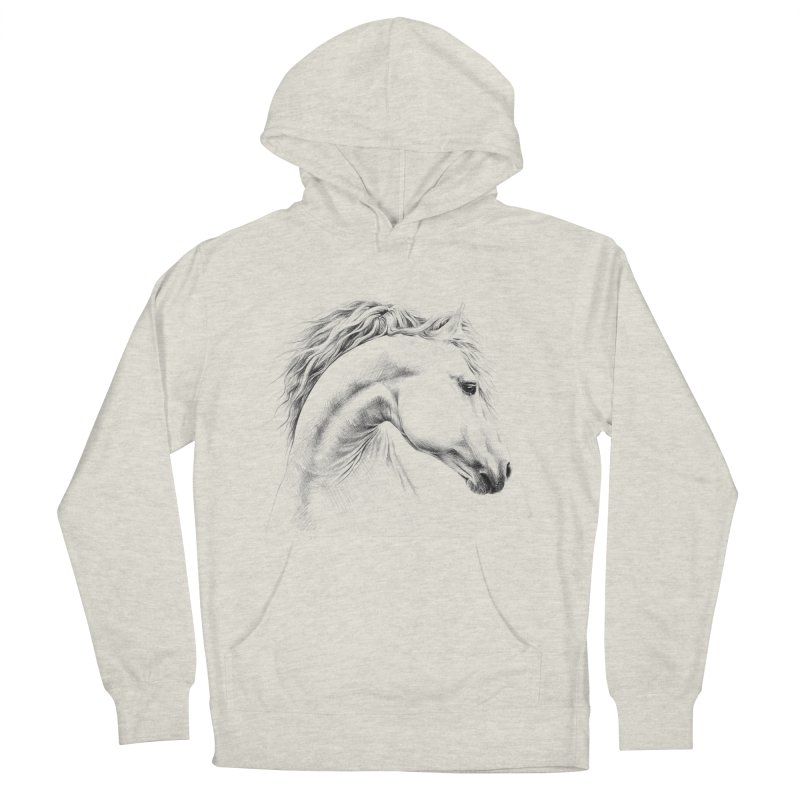 Horse Men's French Terry Pullover Hoody by edrawings38's Artist Shop