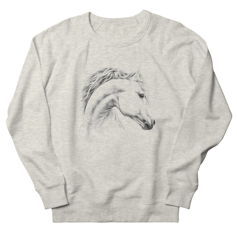 Horse Men's French Terry Sweatshirt by edrawings38's Artist Shop