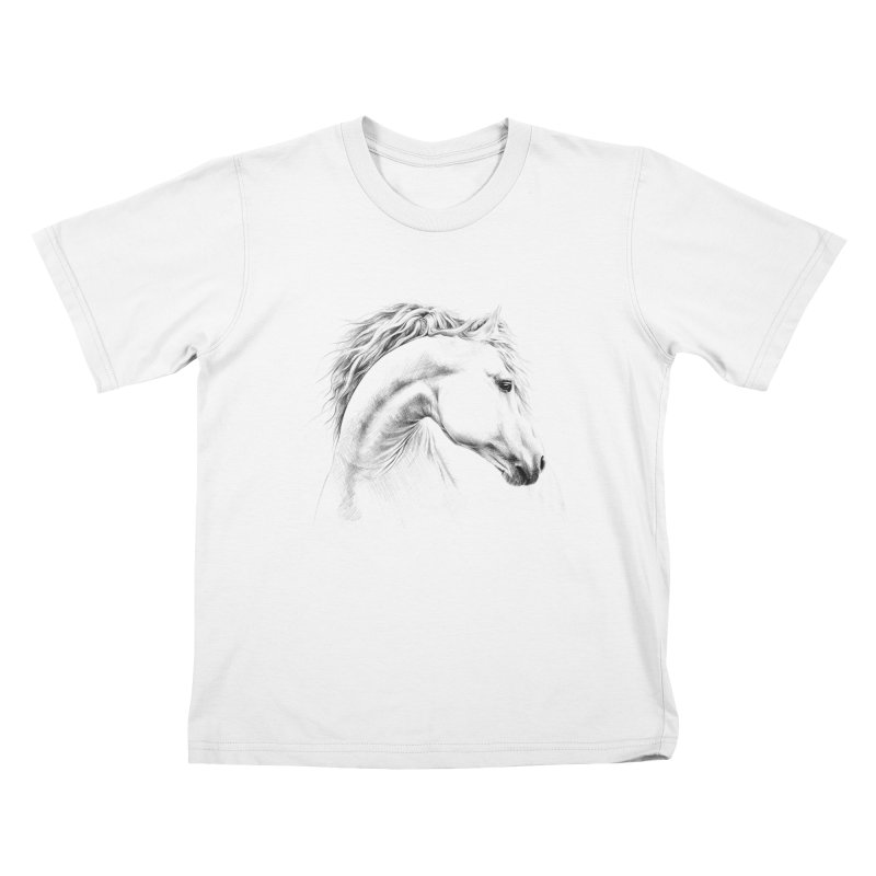 Horse Kids T-Shirt by edrawings38's Artist Shop