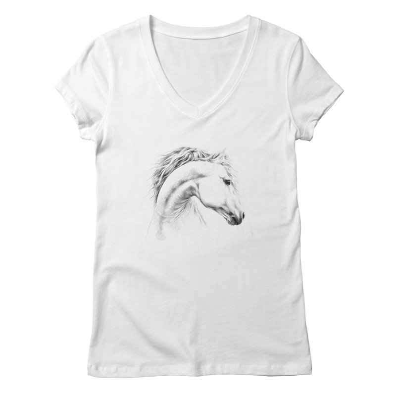 Horse Women's Regular V-Neck by edrawings38's Artist Shop