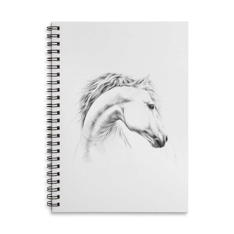 Horse Accessories Lined Spiral Notebook by edrawings38's Artist Shop