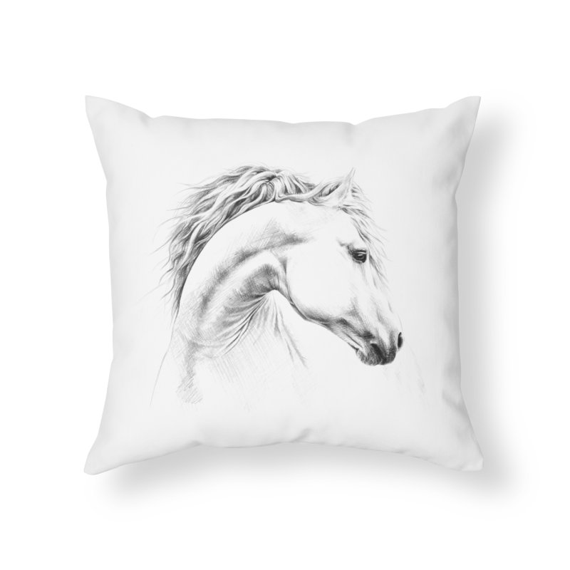 Horse Home Throw Pillow by edrawings38's Artist Shop