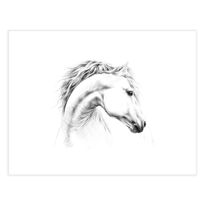 Horse Home Fine Art Print by edrawings38's Artist Shop