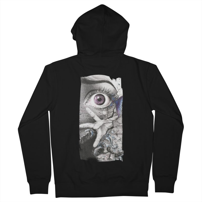 Learn to swim Men's French Terry Zip-Up Hoody by edrawings38's Artist Shop