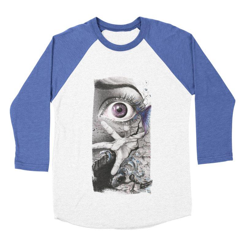 Learn to swim Women's Baseball Triblend Longsleeve T-Shirt by edrawings38's Artist Shop