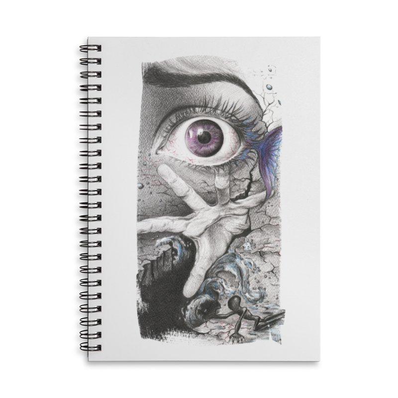 Learn to swim Accessories Lined Spiral Notebook by edrawings38's Artist Shop