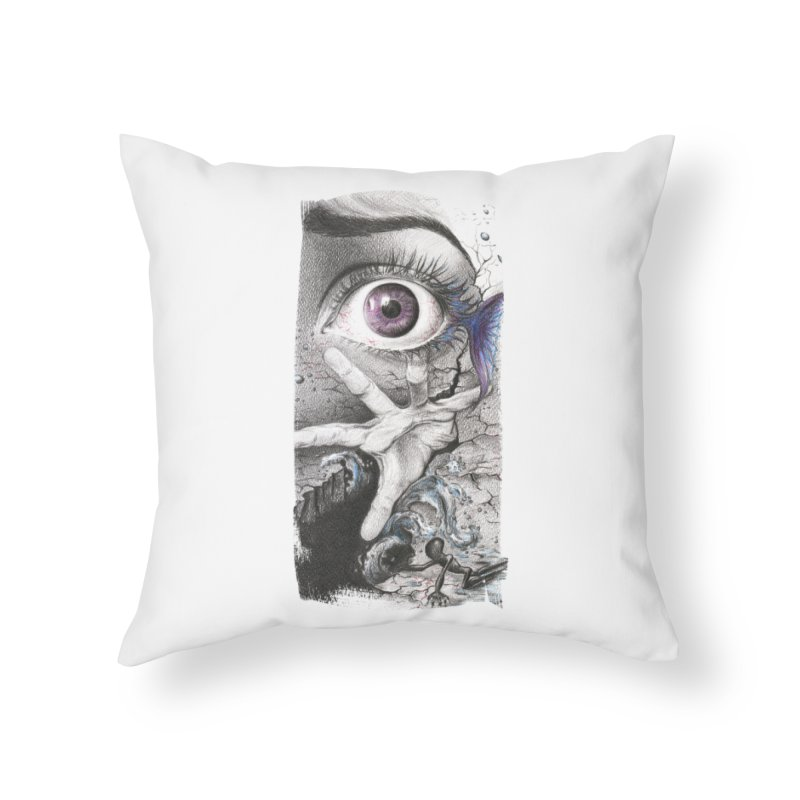 Learn to swim Home Throw Pillow by edrawings38's Artist Shop