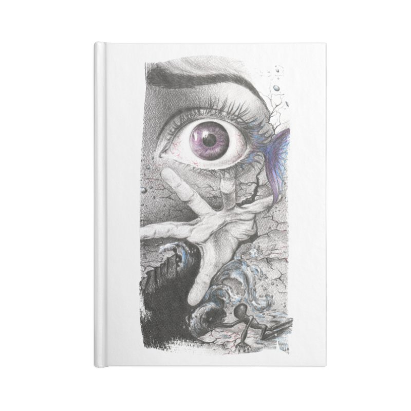 Learn to swim Accessories Lined Journal Notebook by edrawings38's Artist Shop