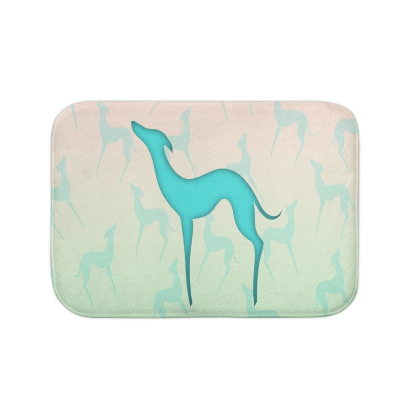 Greyhound dog silhouette Home Bath Mat by edrawings38's Artist Shop