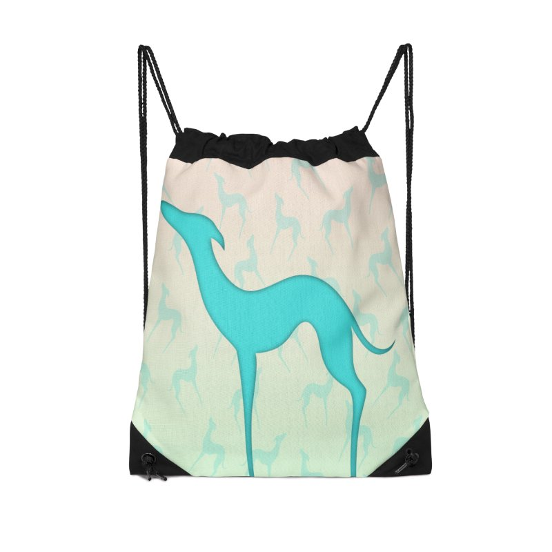 Greyhound dog silhouette Accessories Drawstring Bag Bag by edrawings38's Artist Shop