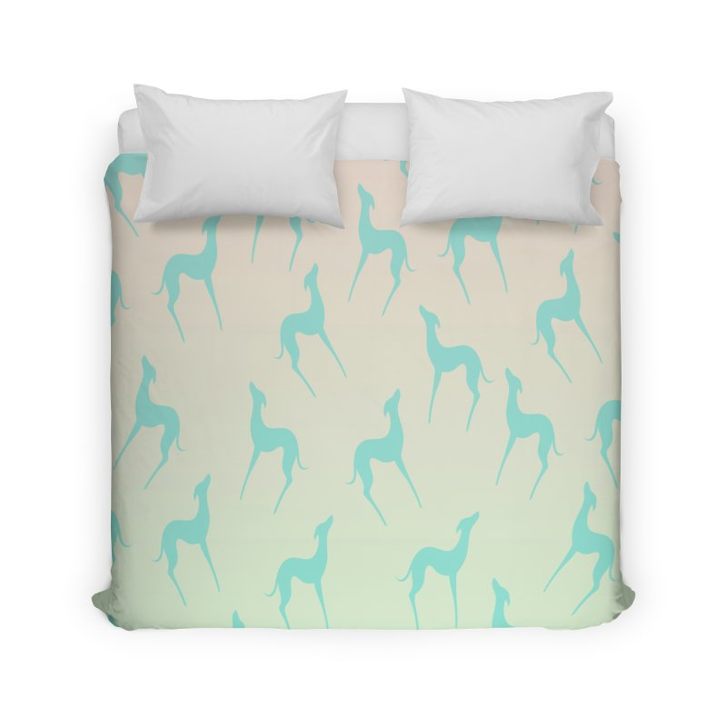 Greyhound dog silhouette Home Duvet by edrawings38's Artist Shop