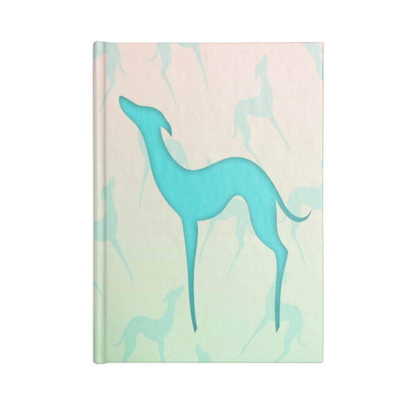 Greyhound dog silhouette Accessories Lined Journal Notebook by edrawings38's Artist Shop
