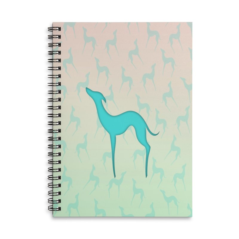 Greyhound dog silhouette Accessories Lined Spiral Notebook by edrawings38's Artist Shop